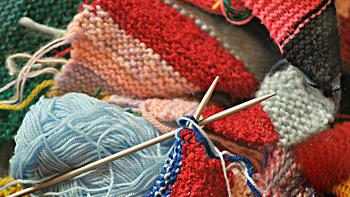 yarn knitting and needles